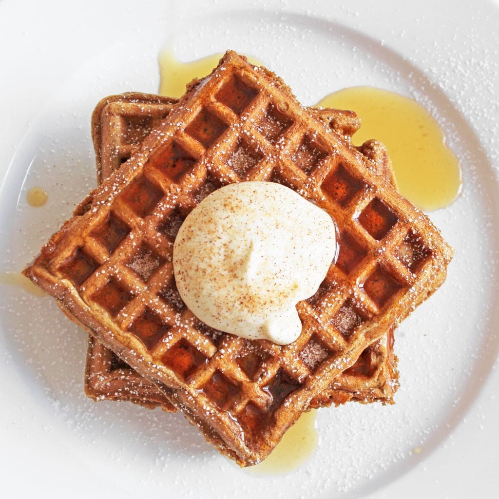 gingerbread waffles christmas recipe