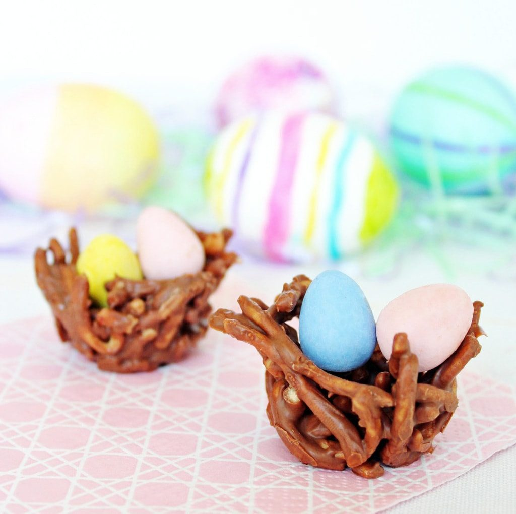 No Bake Chocolate Easter Nests | If You Give a Blonde a Kitchen