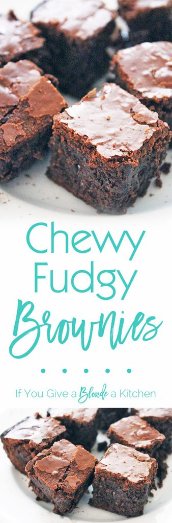 The ultimate chewy and fudgy chocolate brownies! Seriously I have stood by this recipe for years. This blog includes a step-by-step video! | Recipe by @haleydwilliams