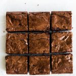 fudgy chewy brownie recipe with shiny crinkle top