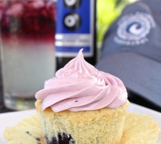 Boozy Lemonade Blueberry Cupcakes