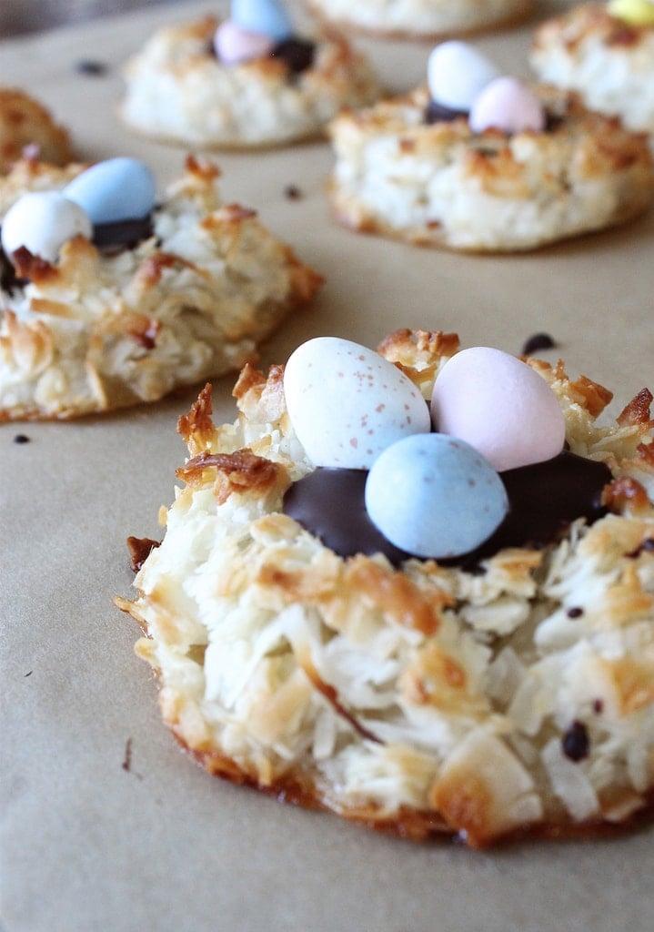 Macaroon Easter Nests | www.ifyougiveablondeakitchen.com