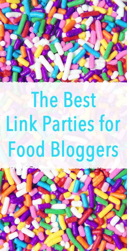 The best link up parties for food bloggers. Great way to drive traffic to your blog! | www.ifyougiveablondeakitchen.com