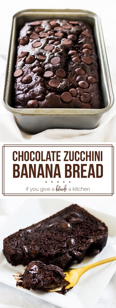 Chocolate Zucchini Banana Bread If You Give A Blonde A