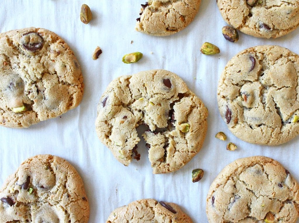 pistachio chocolate chunk cookies sea salt if you give a blonde a kitchen
