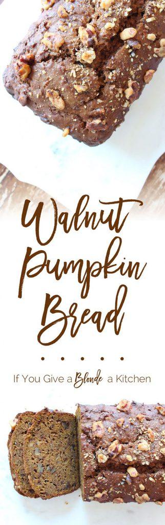 Spiced Pumpkin Bread with Walnuts | Recipe by @haleydwilliams