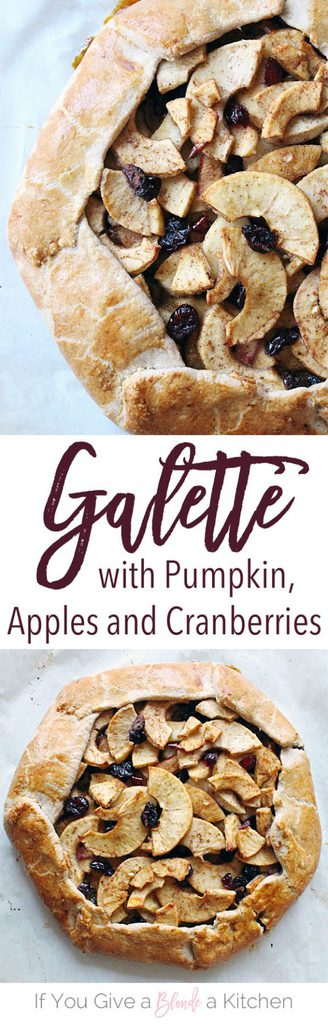 This apple pumpkin galette is the perfect fall treat! It's easy to make and has all the fall flavors. | Recipe by @haleydwilliams