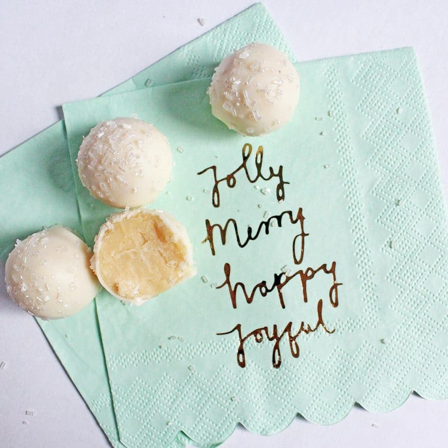 No Bake Sugar Cookie Truffles for Christmas | www.ifyougiveablondeakitchen.com