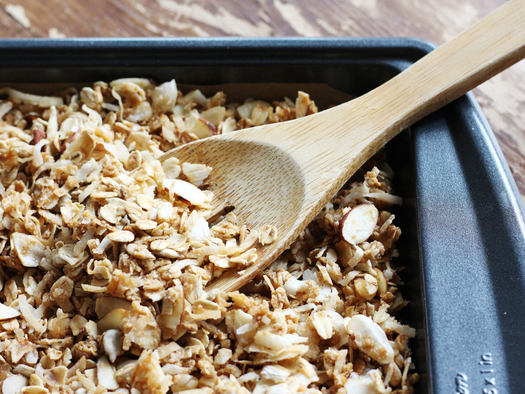 Toasted Coconut Almond Granola | Recipe by @haleydwilliams