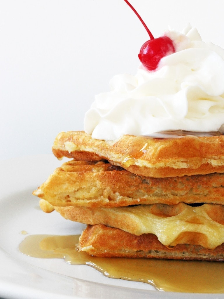 The best fluffy waffles that would make Leslie Knope proud   Recipe by @haleydwilliams