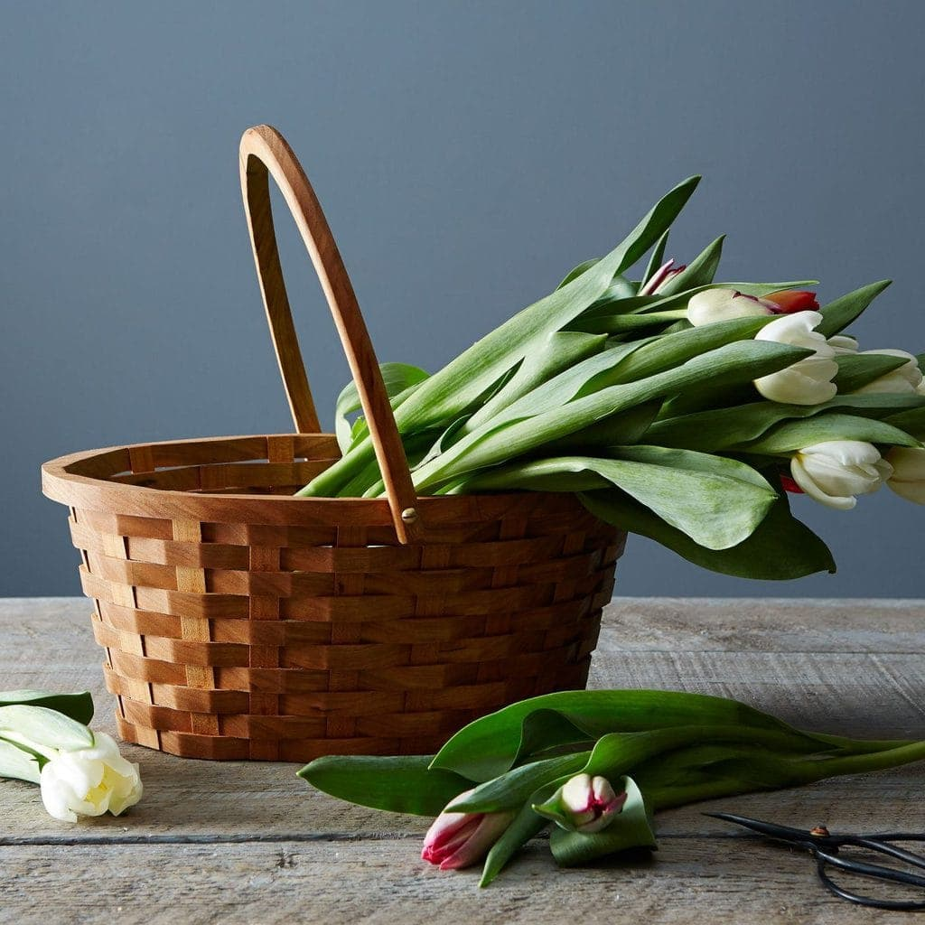 Easter Entertaining Essentials: Wood Easter basket from Food52 comes in cherry or soft maple. | @haleydwilliams