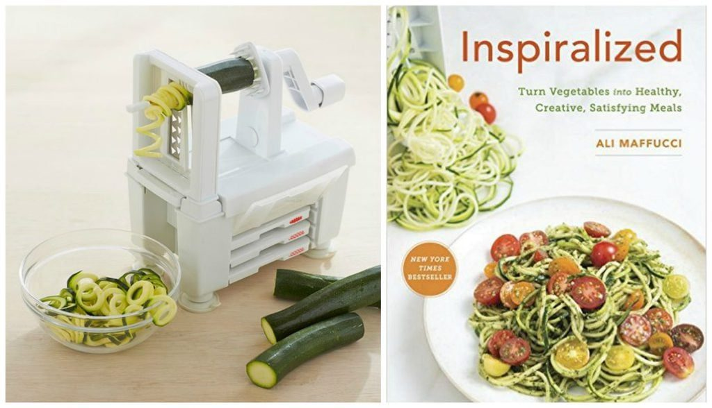 Spiral veggies from the spiralizer and Inspiralized cookbook - perfect gifts for mom! | @haleydwilliams