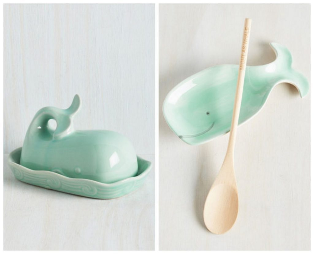 Whale butter dish and spoon rest | @haleydwilliams