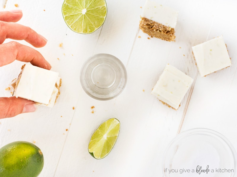 No bake margarita cheesecake bites with lime, tequila and salt