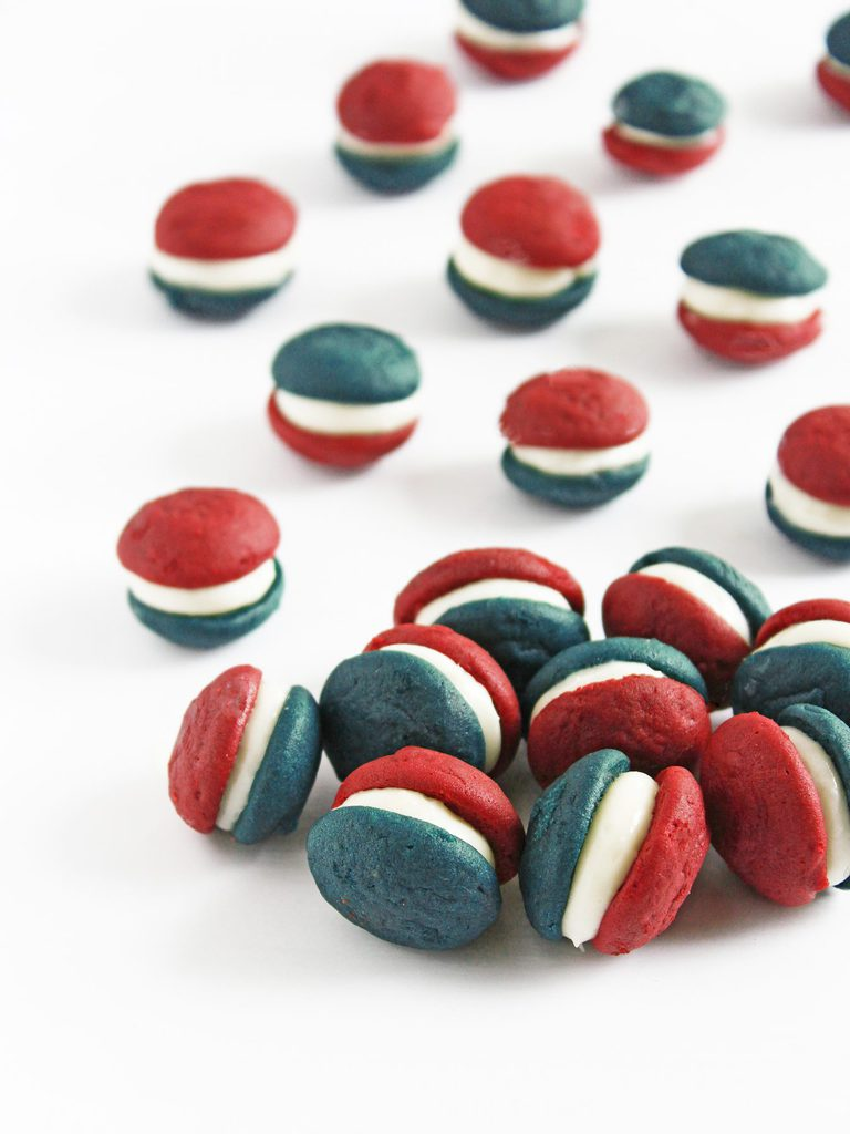 Red, White and Blue Velvet Mini Whoopie Pies - If You Give a ...