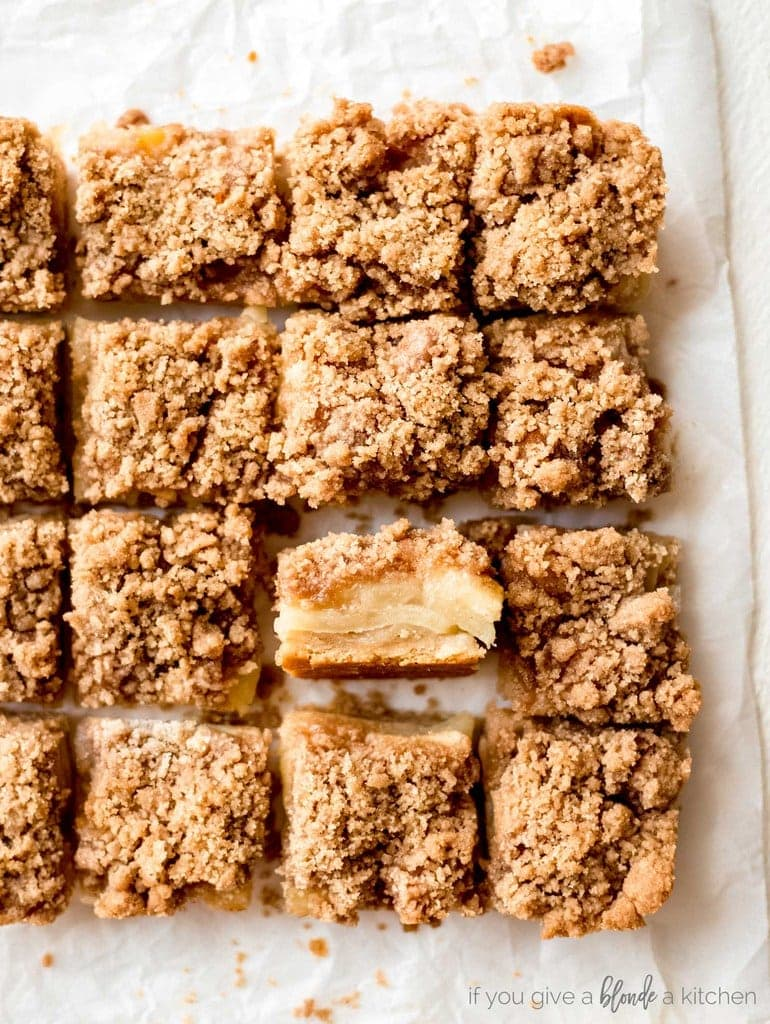 EASY APPLE CRISP BARS IF YOU GIVE A BLONDE A KITCHEN