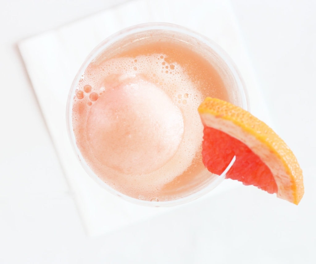 Sorbet rosé cocktail is SO refreshing. The perfect frozen summer cocktail. | www.ifyougiveablondeakitchen.com