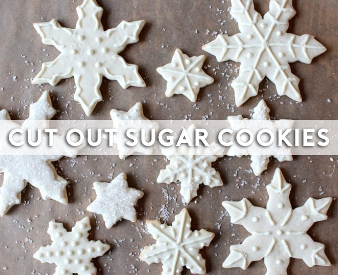 Cut out sugar cookies snowflakes truffles