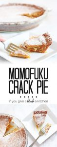 Momofuku Crack Pie recipe - it's so addicting, no wonder they call it crack pie! | www.ifyougiveablondeakitchen.com