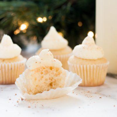 Spiked Eggnog Cupcakes