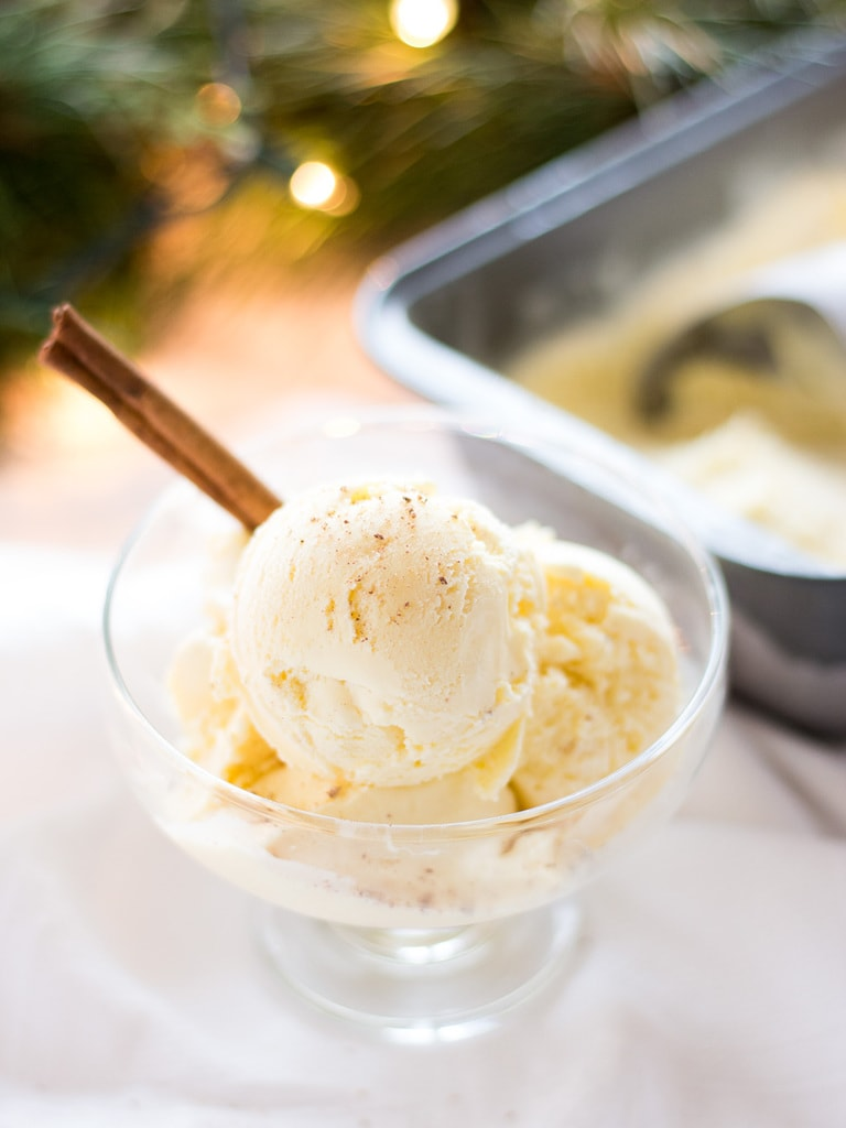 Eggnog Ice Cream - If You Give a Blonde a Kitchen