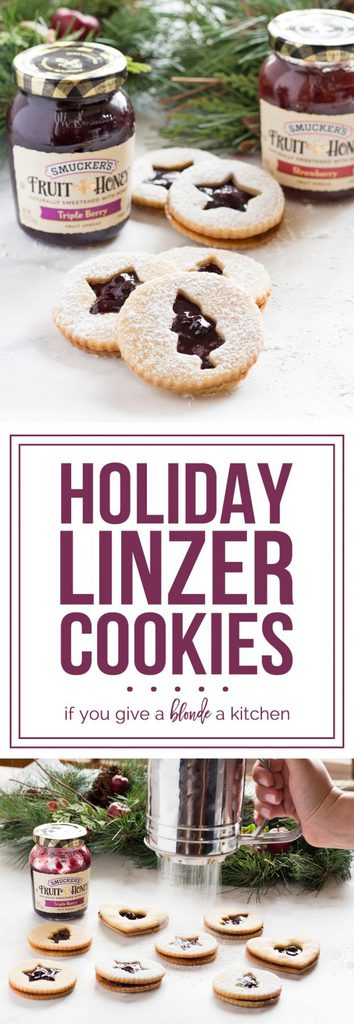 Holiday Linzer Cookies #EasyHolidayEats #ad @smuckers   www.ifyougiveablondeakitchen.com