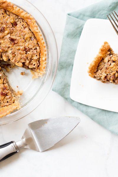 Maple Bacon Walnut Pie