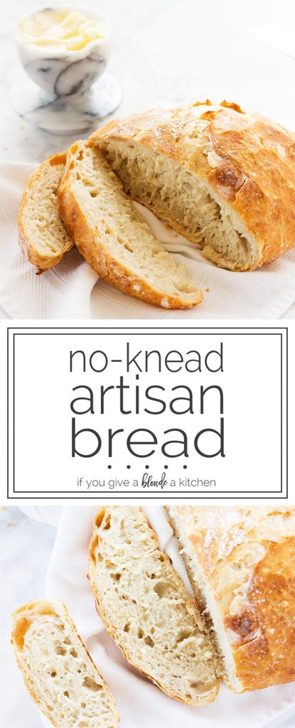Easy recipe for no-knead artisan bread | www.ifyougiveablondeakitchen.com