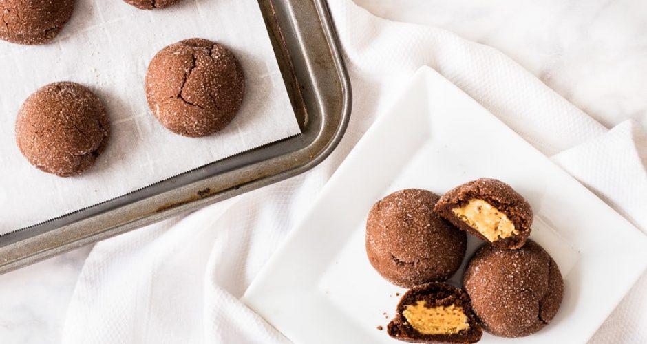 Stuffed Peanut Butter Chocolate Cookies