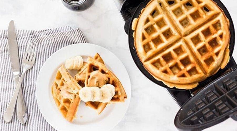 Banana Peanut Butter Waffles