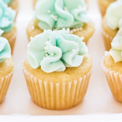 Blue Mermaid Cupcakes