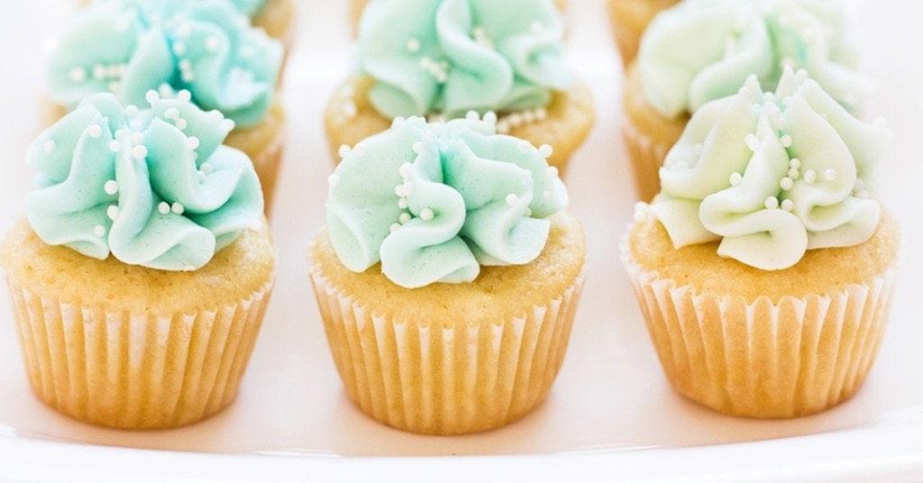 Blue Mermaid Cupcakes
