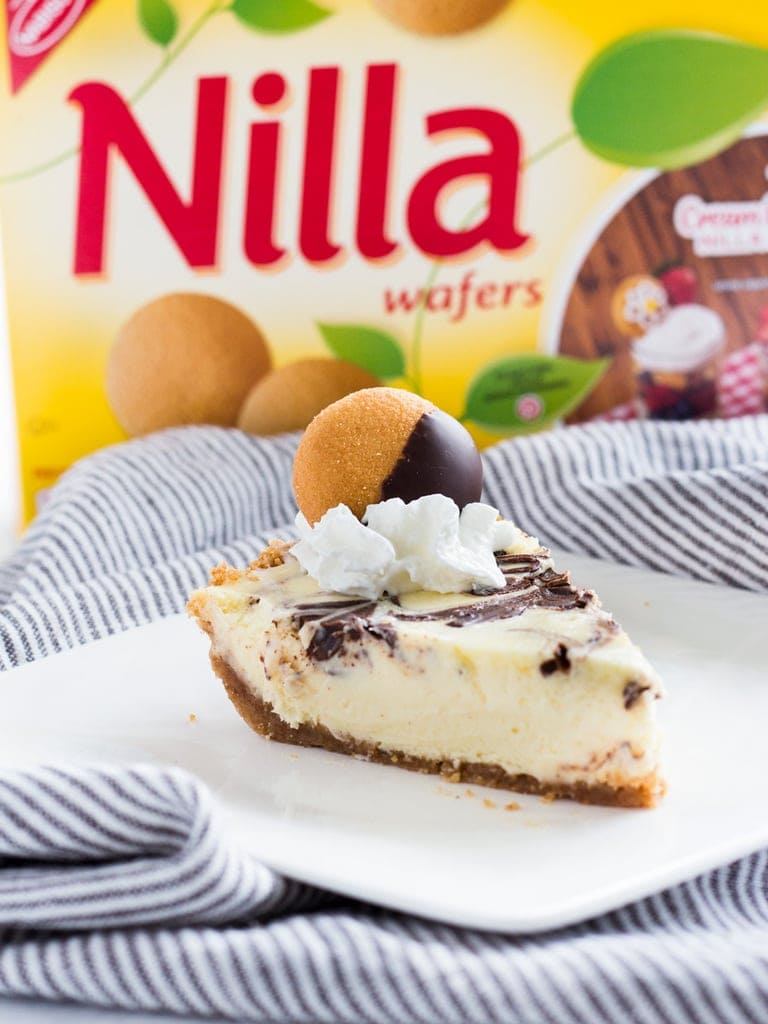 Chocolate marble cheesecake pie with nilla wafer crust.   www.ifyougiveablondeakitchen.com