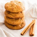 Pumpkin snickerdoodle cookies are the must-make cookie for fall. Make them for Halloween or Thanksgiving for friends and family! | www.ifyougiveablondeakitchen.com