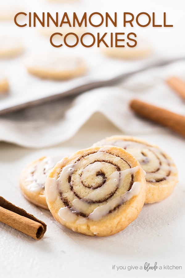 Cinnamon roll cookies are a sweet treat to make for the holidays.