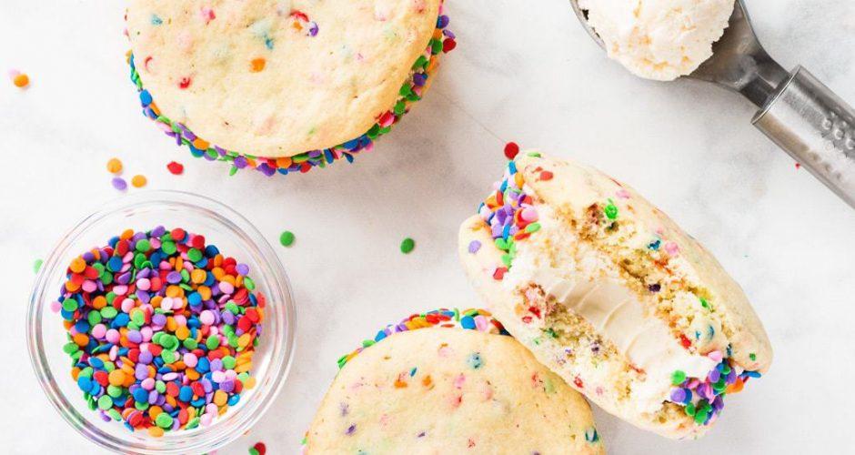Birthday Cake Ice Cream Sandwiches