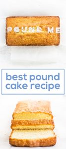 Best pound cake recipe make a moist, flavorful dessert bread with cream cheese, butter, almond extract and more delicious ingredients. Try this easy recipe and serve with fresh fruit. | www.ifyougiveablondeakitchen