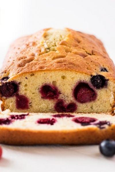 Blueberry Raspberry Pound Cake