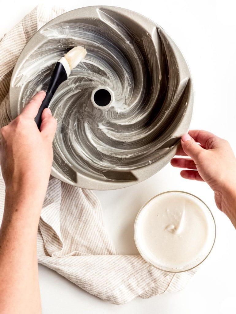 bundt cake pan grease bundt cake pan