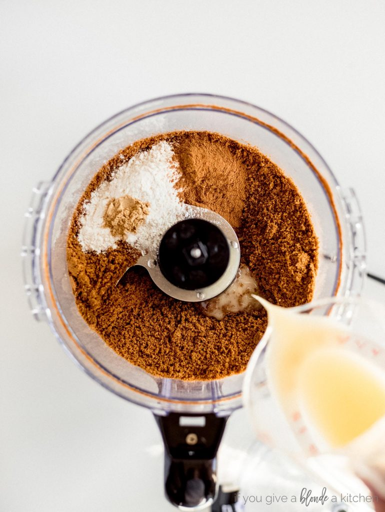 gingersnap crust ingredients in food processor