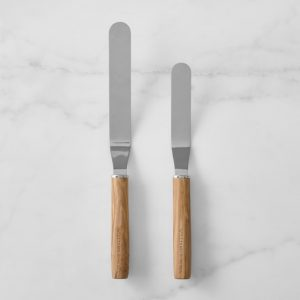 wooden handle offset spatulas big and small